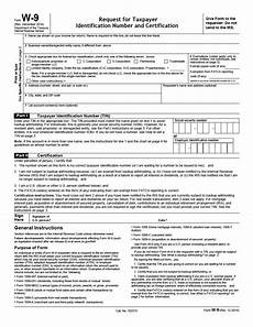 w 9 request for taxpayer identification number and certification pdf irs forms fillable forms