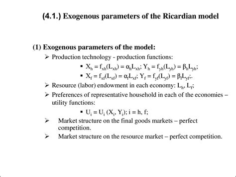 Ricardian Model International Trade