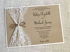 rustic wedding invitations best photos lace wedding