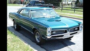 MUSCLE CAR FOR SALE 1967 GTO MATCHING NUMBERS 4 SPEED SOLD