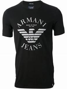 armani logo tshirt in black for men lyst