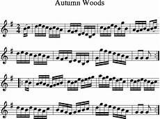 autumn woods irish folk song ireland sheet music for treble clef instrument 8notes com in