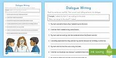 dialogue writing worksheets for grade 5 22945 dialogue writing activity sheet dialogue quotation marks writing writing