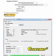 Opel Vin Decoder V1 0 Free Auto Repair