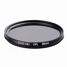 58mm Circular Polarizing Filter With Lens by Rise 58mm Circular Polarizing Cpl C Pl Filter Lens 58mm