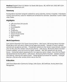 1 nursing home volunteer resume templates try them now