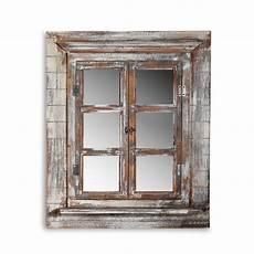wandspiegel mit ablage landhaus deko spiegel fensterladen shabby holz spiegel rundbogen