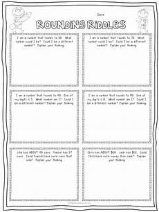 riddle worksheets for third graders 10904 rounding riddles pdf drive third grade math homeschool math math