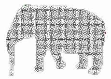 Malvorlagen Kinder Pdf Quiz Labyrinth Irrgarten Elefant R 228 Tsel F 252 R Kinder
