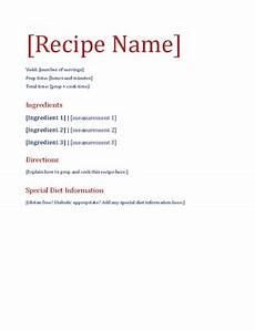 receipt document template recipe