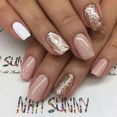 Nageldesign 2018 Trends Bilder - 75 gold silver white bling glitter wedding nails nails