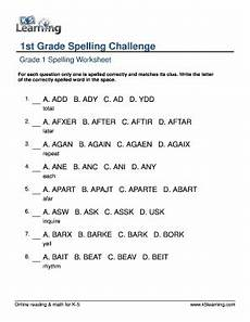 spelling worksheets for grade 1 22683 fillable spelling1st grade spelling challenge words printable grade 1 worksheet