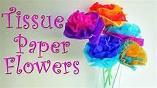 Papierblumen Basteln Anleitung - diy crafts how to make tissue paper flowers easy