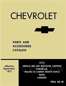 free download parts manuals 1972 chevrolet camaro auto manual 1972 illustrated master parts book el camino chevelle monte carlo camaro nova 72 ebay