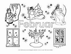 Ausmalbilder Jahreszeiten Monate Februar In Der Grundschule Ausmalbilder Monate Die