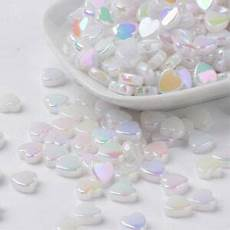 shimmer rainbow 100 s and 1000 s 85g 100 white ab rainbow shimmer acrylic 8mm ivory