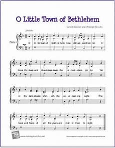 o little town of bethlehem sheet music o little town of bethlehem free easy piano sheet music