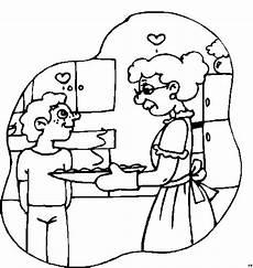 Gratis Malvorlagen Oma Und Opa Oma Mit Enkel Und Herzen Ausmalbild Malvorlage Menschen