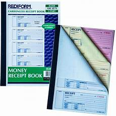 rediform 8l808 money receipt book 3 part 100 carbonless sets numbered nordisco com