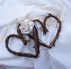 wedding pew decorations for rustic wedding reception decor country chic vine hearts with