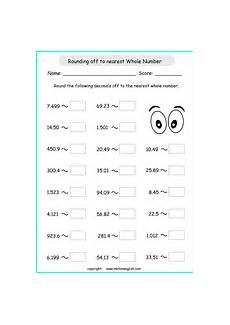 rounding decimals numbers worksheets 7232 decimals to the nearest tenth printable grade 4 math worksheet