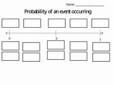 probability continuum worksheets 5726 probability foldable with cut and paste by megan glasco tpt