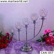 2020 new stair shaped silver candelabra with crystal