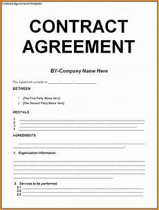 9 contract agreement letter exles pdf exles
