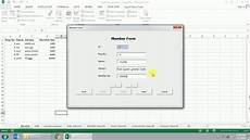 php insert update delete form exle user form with insert update delete in excel vba youtube