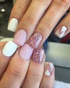 chevron 15 easy valentines day nail designs for short