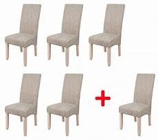 chaises salle à manger lot de 5 chaises 1 offerte sagua naturel beige