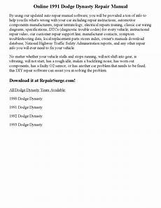 auto repair manual free download 1993 dodge dynasty navigation system 1991 dodge dynasty repair manual online by ericdver issuu