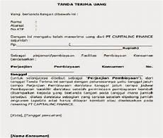 contoh surat bukti penerimaan pembayaran dp rumah