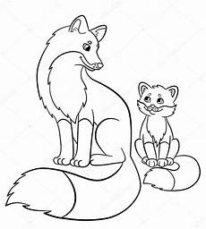 coloring pages animals fox with