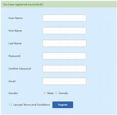 php user registration form phppot