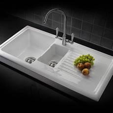 Spülbecken Küche Keramik - keramik einbausp 252 le weiss mit restebecken rl301cw