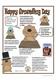 groundhog day poster english esl worksheets for distance learning and physical classrooms