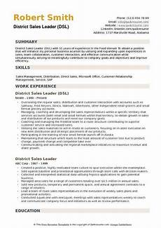 district sales leader resume sles qwikresume