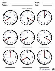 generate random clock worksheets for pre k kindergarten 1st 2nd 3rd 4th and 5th grades