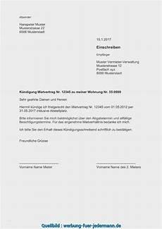Absage Wohnung by Experte Wohnung K 252 Ndigungsschreiben Vorlage Wunderbar