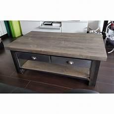 table basse industrielle table basse industrielle tiroir le bois chez vous