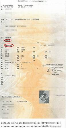 La Carte Grise Fin De L Homologation D Une R34 Gtr Wardiz