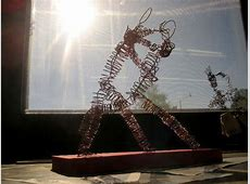 Wire Sculpture People · A Wire Model · Wirework on Cut Out