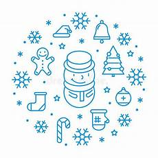 line christmas icon stock illustration illustration of tree 79876472