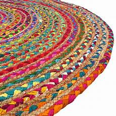colorful jute rug chindi rag rugs of india