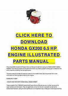 small engine repair manuals free download 1992 dodge ram wagon b250 auto manual issuu honda gx200 6 5 hp engine illustrated parts manual by cycle soft