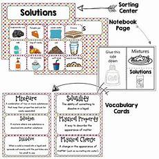 worksheet mixtures and solutions answers mixtures and solutions activities notebook worksheets by krafty teacher