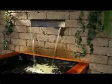 mauer mit wasserfall aquafall hochwertiger wasserfall aus edelstahl mit led