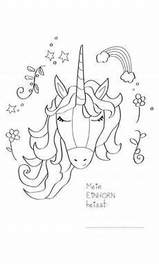Ausmalbilder Zum Ausdrucken Unicorn Printable Mein Einhorn Heisst Ausmalbild