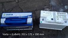 batteriewechsel bmw 5er e60 upgrade 80ah auf 95ah